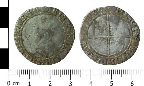 WREX-A8EC4F: Silver shilling of Elizabeth I 1589/90-1591/92