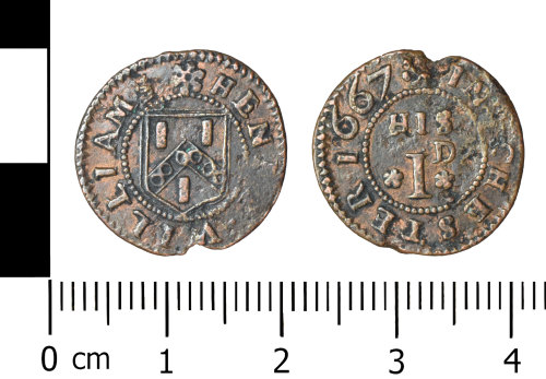 WREX-A920C9: Copper alloy trade token of HENRY WILLIAMS Chester 1667