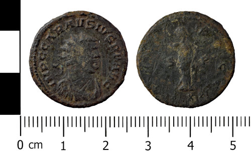 A resized image of Copper alloy radiate of Carausius 286-293AD