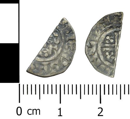 WREX-F40FA5: Silver cut halfpenny of Henry III class 7bc, c. 1229-1232AD