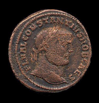 HAMP426: Obverse of a nummus of Constantius I