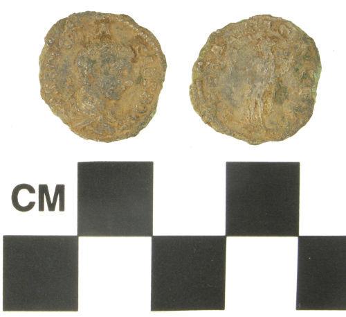 NARC-650E90: Roman plated denarius of Geta, struck under Septimius Severus