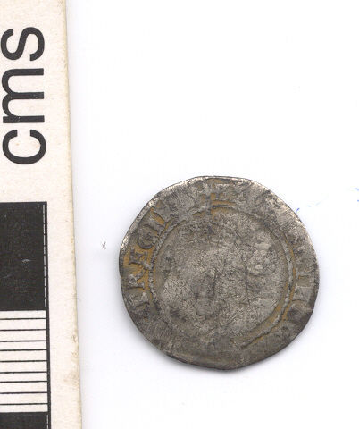 NARC-D86838: Post-medieval sixpence, obverse