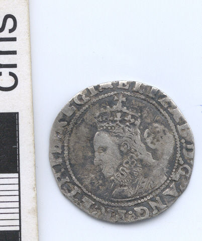 NARC-D8B011: Post-medieval sixpence, obverse