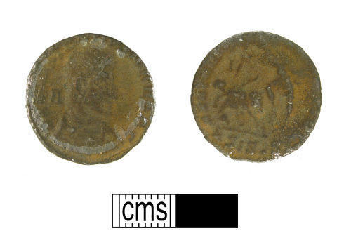 WMID-04F317: Roman coin, a copper-alloy nummus of Constantius Gallus