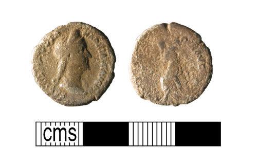 WMID-28E943: Roman coin, a silver Roman denarius of Sabina