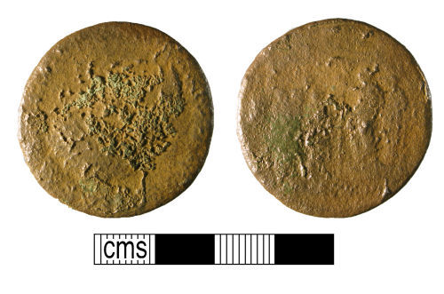 WMID-950F14: Worn and corroded copper-alloy sestertius
