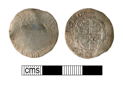 WMID-966396: Post-medieval coin, a silver sixpence of Charles I