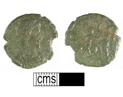 WMID-C17611: Roman coin, a copper-alloy nummus of the House of Constantine