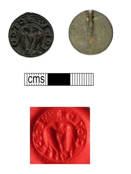 WMID-CB9991: Medieval copper-alloy seal matrix