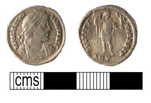 WMID-E657E3: Roman coin, a silver siliqua of Valentinian