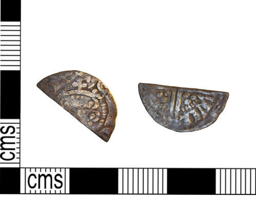 LEIC-0223D3: Medieval Coin: Half cut penny of Henry/John