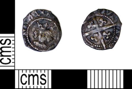 LEIC-FA4D55: Medieval Coin: Halfpenny of Edward IV