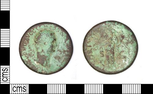 LEIC-098B07: Roman Coin: As of Domitian