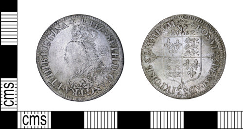 LEIC-946FB5: Post Medieval Coin: Sixpence of Elizabeth I