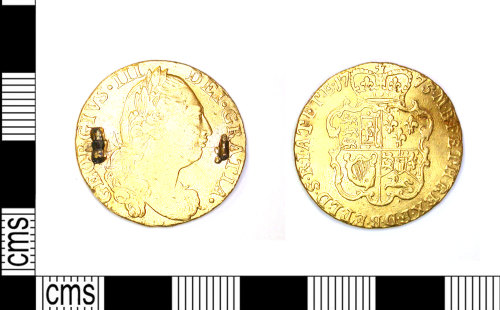 LEIC-AAF5BB: Post Medieval Coin: Guinea of George III