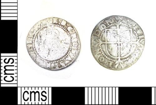LEIC-B3C9ED: Post Medieval Coin: Half Groat of Elizabeth I.