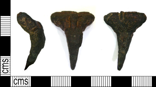LEIC-E69571: Roman Headstud Brooch.