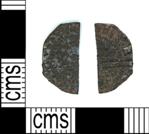 LEIC-E6C96C: Medieval Coin: Half Cut Penny of Henry III