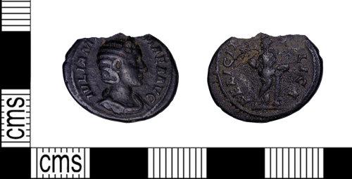 LEIC-EE86AE: Roman Coin: Silver Denarius of Julia Mamaea