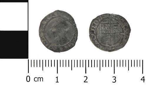 LVPL-29F6D0: Post Medieval coin: Penny of Elizabeth I