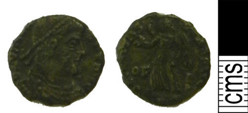 LVPL-3651B5: Roman coin: Nummus of uncertain Emperor