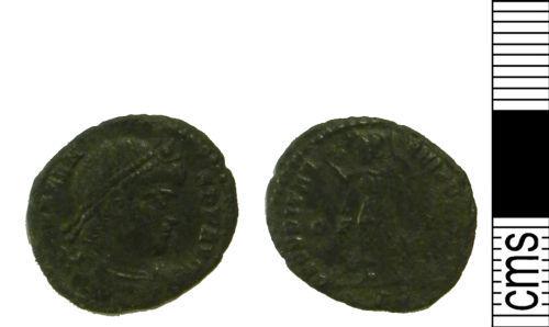 LVPL-36AA72: Roman coin: Nummus of uncertain Emperor