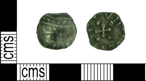 LVPL-50D947: Early Medieval coin: Sceat of the Radiate main group type