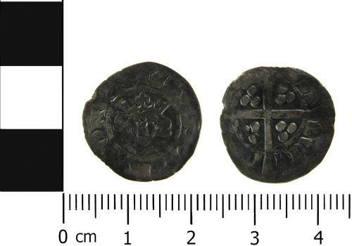 LVPL-DB4B87: Medieval coin: Penny of Edward II, Bury St Edmunds mint