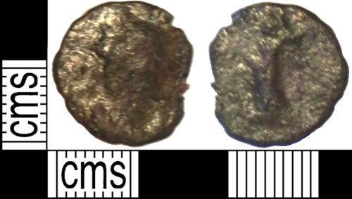 LVPL-E11B17: Roman coin: Radiate of uncertain Emperor