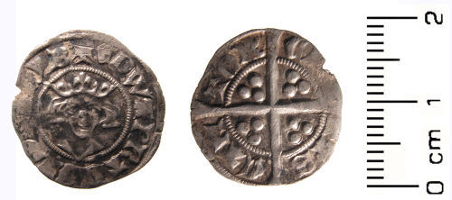 WAW-774F67: Medieval coin: penny of Edward II, mint Canterbury