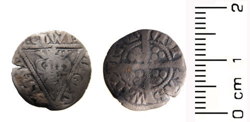 WAW-97F621: Medieval coin: Half penny of Edward I, Waterford mint