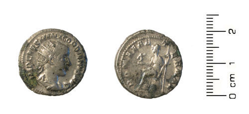 WMID-02F044: Roman coin:radiate (antoninianus) of Gordian III (238-244)