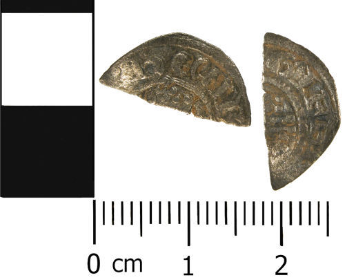 WMID-04B7F5: Medieval coin: Cut halfpenny of Henry III