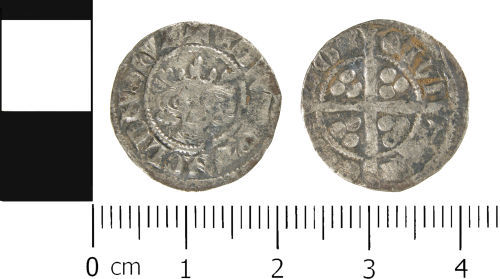 WMID-069E80: Medieval coin: Penny of Edward II, Canterbury Mint