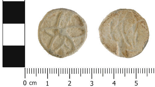 WMID-06DB75: Medieval to Post medieval: Complete bifaced lead token