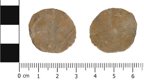 WMID-07A19A: Medieval to Post medieval: Complete unifaced lead token