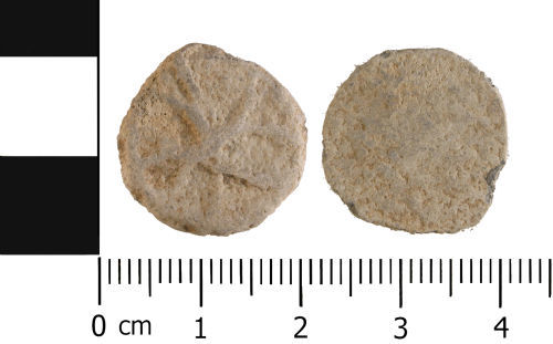 WMID-081CAC: Medieval to Post medieval: Complete unifaced lead token