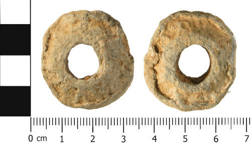 WMID-08D435: Roman to Post Medieval: Spindle Whorl