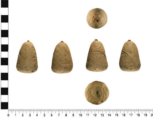 WMID-132827: Probable Medieval: Incomplete conical weight