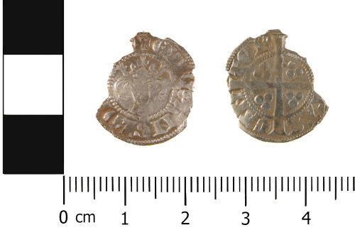 WMID-13A6C5: Medieval coin: Incomplete penny of Edward I, Canterbury Mint