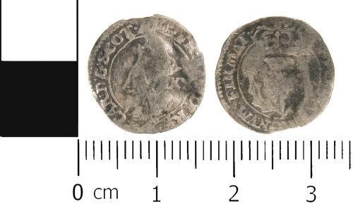 WMID-1BBCC4: Post Medieval coin: Scottish twenty pence of Charles I