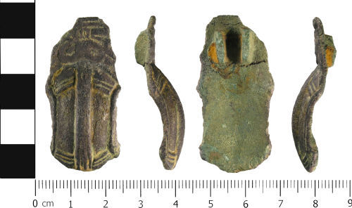 WMID-28BE76: Early Early Medieval: Probable incomplete great square headed brooch