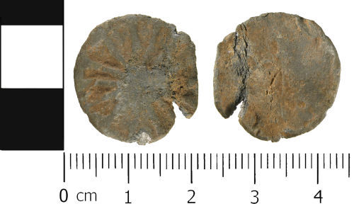 WMID-2BB851: Medieval to Post medieval: Complete unifaced lead token
