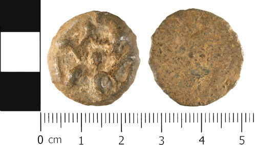 WMID-2EA133: Medieval to Post medieval: Complete unifaced lead token