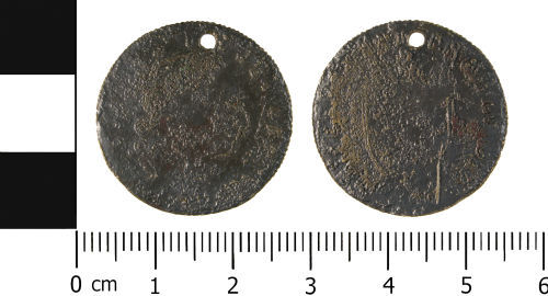 WMID-39A945: Modern: Imitation Guinea of George III issued as a Gaming Piece