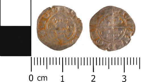 WMID-3B7061: WMID-3B7061: Medieval coin: Halfpenny of Edward III