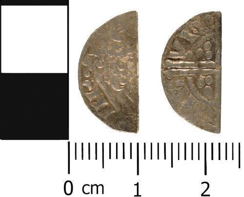 WMID-3BCE26: Medieval coin: Cut half penny of Henry III