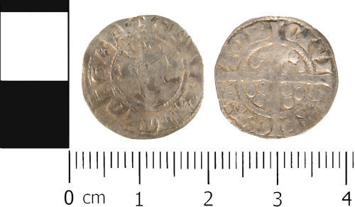 WMID-483C76: Medieval coin: Penny of Edward II, Canterbury Mint