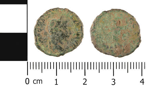 WMID-4BBC82: WMID-4BBC82: Roman coin: Nummus of uncertain Emperor